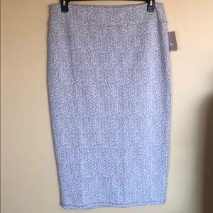 NWT 14th & Union Gray Static Jacquard Skirt Sz Lg.